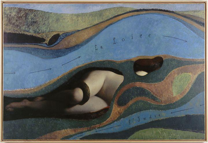 """""""Le jardin de la France"""", de Ernst Max (1891-1976). Paris, Centre Pompidou - Musée national d'art moderne - Centre de création industrielle. AM1982-190. (JEAN-CLAUDE PLANCHET / RMN-GP / AGENCE PHOTO DE LA RMN-GP)"""