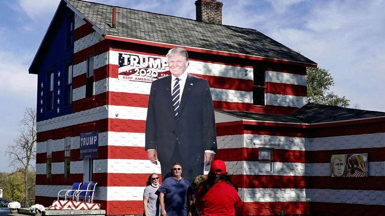 "La ""Trump House"" en Pennsylvanie, le 21 octobre 2020. (MAKOTO MURAYAMA / YOMIURI)"