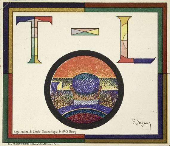 """Paul Signac, """"Application du cercle chromatique de Mr. Ch. Henry (programme pour le Théâtre-Libre)"""", 1888. Lithographie, 16 x 18,5 cm. Archives Signac. (TOUS DROITS RÉSERVÉS / PHOTO : ANDRÉ MORIN)"""