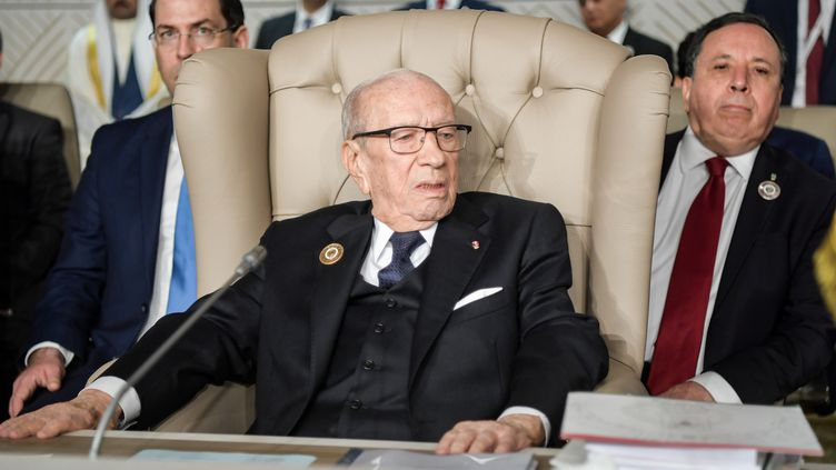 La président tunisien Béji Caïd Essebsi le 31 mars 2019 à Tunis. (FETHI BELAID / POOL)