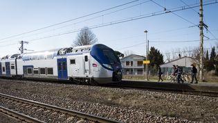 Un TER s'arrête àVillefranche-de-Lauragais (Haute-Garonne), le 27 février 2018. (ERIC CABANIS / AFP)