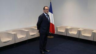 Le chef de l'Etat François Hollande le 30 novembre 2015 à la COP21 au Bourget (Seine-Saint-Denis). (PHILIPPE WOJAZER / AFP)