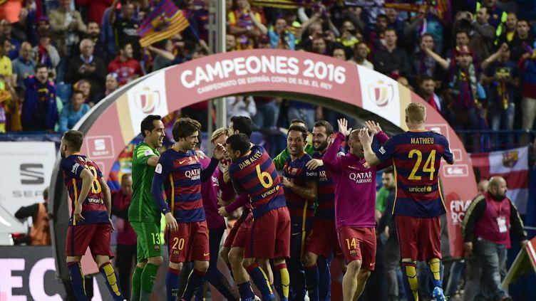 La joie des Barcelonais (PIERRE-PHILIPPE MARCOU / AFP)