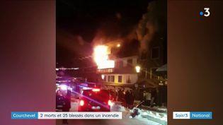 Une image de l'incendie à Courchevel (France 3)