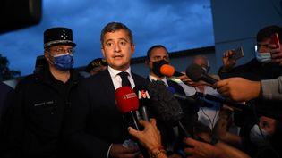 Le ministre de l'Intérieur Gérald Darmanin à Bernis (Gard), le 14 septembre 2021. (SYLVAIN THOMAS / AFP)