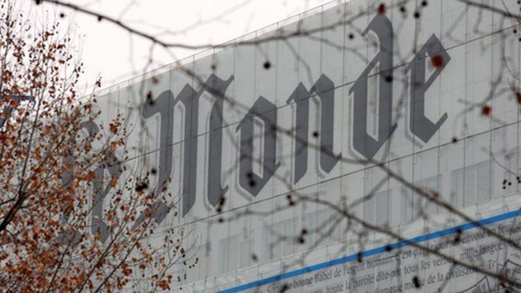 La façade du siège du quotidien Le Monde, à Paris (AFP / François Guillot)