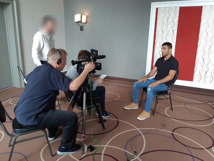 C'est une interview exclusive pour un média francophone. Seul franceinfo a pu rencontrer Saeid Mollei. (FABRICE RIGOBERT / RADIO FRANCE)