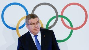 Thomas Bach, le président du Comité international olympique, à Lausanne (Suisse), le 12 mai 2017. (ANTON DENISOV / SPUTNIK / AFP)