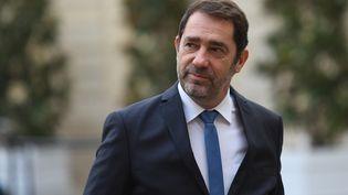 Christophe Castaner, le ministre de l'Intérieur, le 25 novembre 2019 à Matignon. (STEPHANE DE SAKUTIN / AFP)