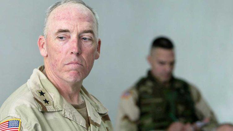 (Le général Geoffrey Miller, ancien commandant de Guatanamo en 2004 © maxppp)