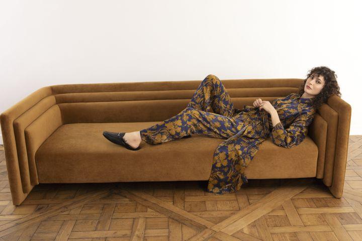 Collection Tavernier automne-hiver 2020-21 :Kimono et pyjama Ballet en satin de soie imprimé (Bruno Ripoche)