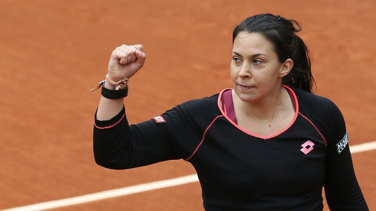 31 mai 2013 -Marion Bartoli bat la colombienne Mariana Duque-Marino à Roland Garros, Paris (PATRICK KOVARIK / AFP)