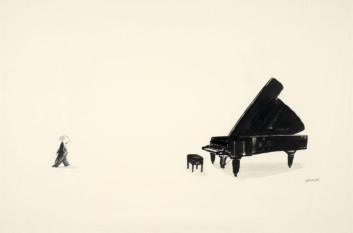 """""""Le pianiste"""", Jean-Jacques Sempé, 1979 (ARTCURIAL)"""