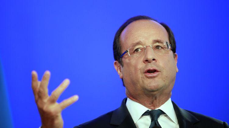 François Hollande, le 3 septembre 2012, à Trappes (Yvelines). (THIBAULT CAMUS / POOL)