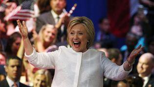 Hillary Clinton après sa victoire aux primaires démocrates, le 7 juin 2016 à New York. (LUCAS JACKSON / REUTERS)