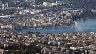 Illustration : la ville de Genève vue du ciel, Suisse. (PASCAL DELOCHE)