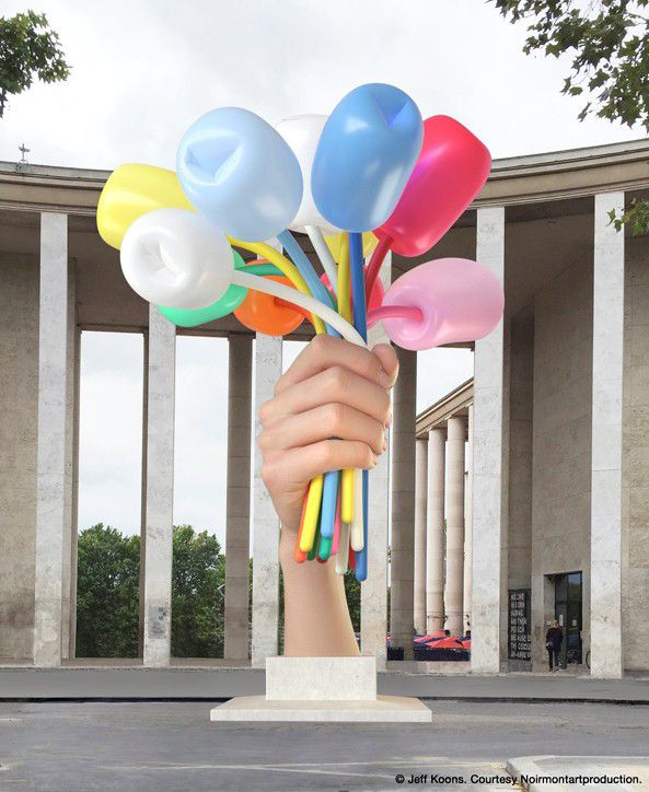 Bouquet of Tulips de Jeff Koons  (Jeff Koons, Courtesy Noirmontartproduction)