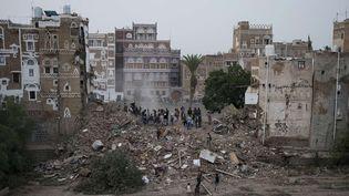 Le vendredi 12 juin 2015, après le raid dans la vieille ville de Sanaa.  (Alex Potter/AP/SIPA)