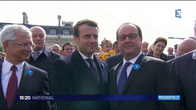 F. Hollande / E. Macron : passage de flambeau