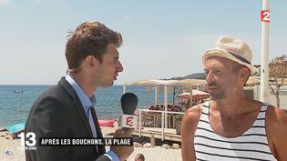 Dans le sud, certains vacanciers profitent déjà de la plage. Ambroise Bouleis est en direct de Cassis (Bouches-du-Rhône). (FRANCE 2)