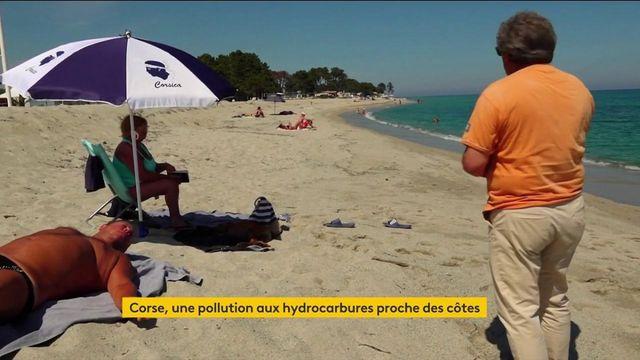 Corse : des plages interdites d'accès à la suite d'une pollution aux hydrocarbures proche des côtes