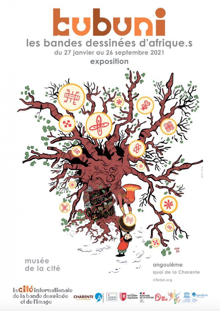 """""""Kubuni, les bandes dessinées d'Afrique.s"""" jusqu'au 26 septembre 2021. (DR / Musée de la Cité - Juni Ba)"""