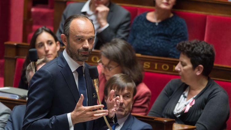 Le Premier ministreEdouard Philippeàl'Assemblee Nationale, le 10 octobre 2017 (JACQUES WITT / SIPA)