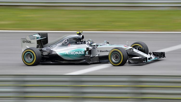 Nico Rosberg est à l'aise sur le circuit du Grand Prix d'Autriche (SAMUEL KUBANI / AFP)