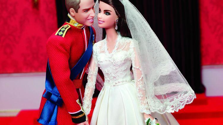 Le couple princier, version Mattel. (PAUL JORDAN / 2012 MATTEL / AFP)