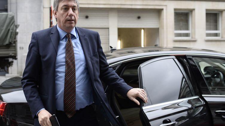 Le ministre belge de l'Intérieur, Jan Jambon, le 15 avril 2016 à Bruxelles (Belgique). (DIRK WAEM / BELGA / AFP)
