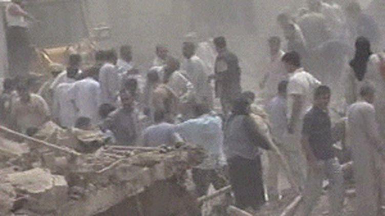 Après l'attentat meurtrier de Taza, près de Kirkouk, qui a fait des dizaines de morts le 20 juin 2009 (© F3)