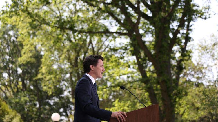 Le Premier ministre canadien, Justin Trudeau, le 15 août 2021 à Ottawa. (DAVE CHAN / AFP)