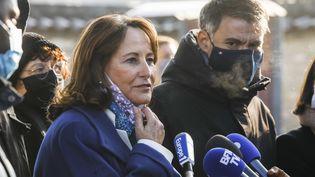 Ségiolène Royal à Jarnac (Charente) le 8 janvier 2021 lors du 25e anniversaire du décès de François Mitterrand (OLIVIER CORSAN / MAXPPP)