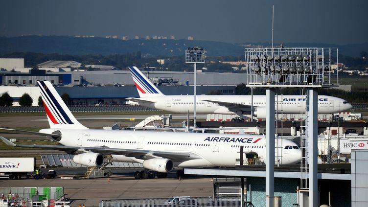 Des avions d'Air France sur le tarmac de l'aéroport d'Orly, en septembre 2014. (ERIC FEFERBERG / AFP)