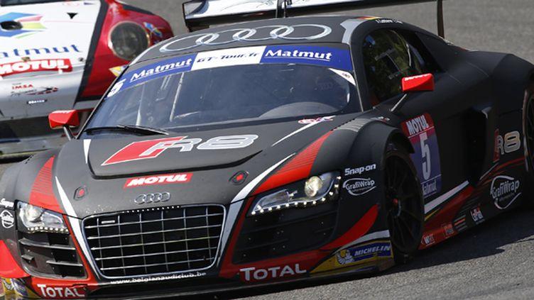 La Audi R8 LMS sur le circuit de Spa-Francorchamps (FLORENT GOODEN / DPPI MEDIA)