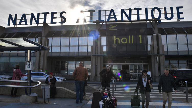 L'aéroport de Nantes-Atlantique, le 27 janvier 2018. (LOIC VENANCE / AFP)