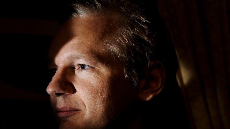Le fondateur de Wikileaks Julian Assange observe l'assistance avant de donner une conférence de presse à Genève (Suisse), le 4 novembre 2010. En publiant des documents confidentiels relatifs aux guerresau Proche et Moyen-Orient ainsi qu'à la diplomatie américaine, son site internet a connu cette année une célébrité mondiale. (FABRICE COFFRINI / AFP)