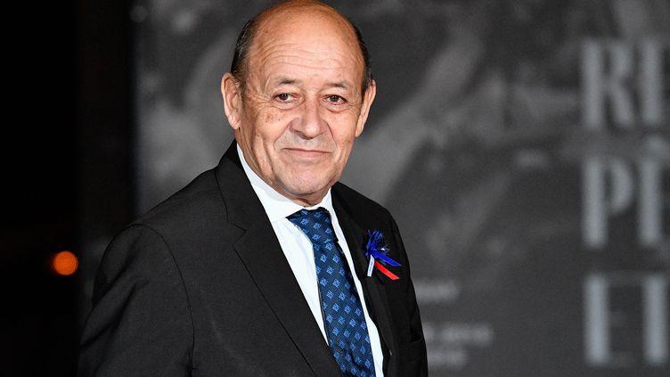 Le ministre des Affaires étrangères Jean-Yves Le Drian, le 10 novembre 2018, lors de la cérémonie de commémoration du 11 novembre 1918. (AFP)