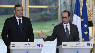 François Hollande recevaitlundi à l'ElyséeRiad Hijab, lecoordonnateur général du Haut Comité de l'opposition syrienne (BERTRAND GUAY / AFP)