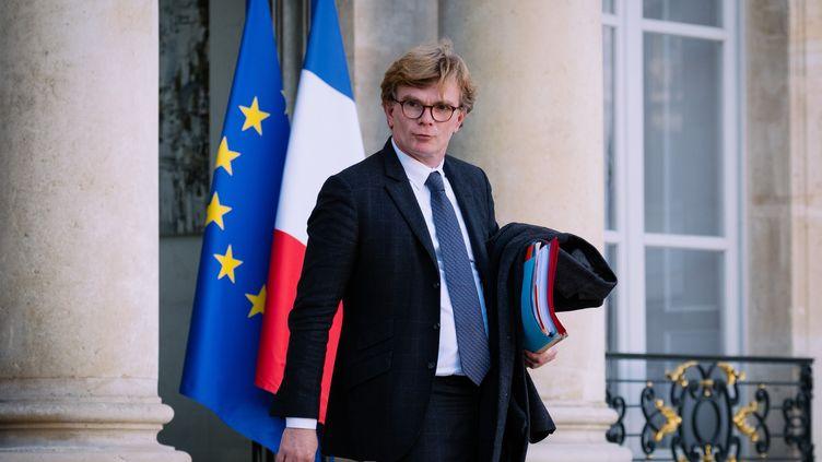 Marc Fesneau,ministre chargé des relations avec le Parlement,le 20 novembre 2019 à l'Elysée. (MARIE MAGNIN / HANS LUCAS / AFP)
