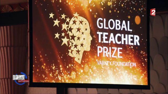 """VIDEO. """"13h15"""". La """"classe inversée"""" d'une prof française au trophée du meilleur enseignant du monde 2017 à Dubaï"""