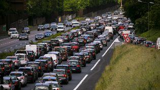 Le nombre de ralentissements depuis la rentrée aaugmenté de 22% par rapport à lamême époquel'an dernier sur les routes d'Ile-de-France d'après Bison Futé. (VINCENT ISORE / MAXPPP)