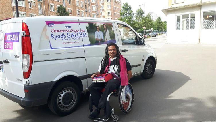 Ryadh Sallem encampagne. (Jérôme Jadot)
