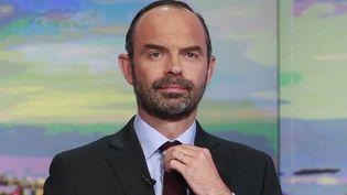 Edouard Philippe en est déjà à son deuxième roman de fiction politique.  (BENJAMIN CREMEL / AFP)