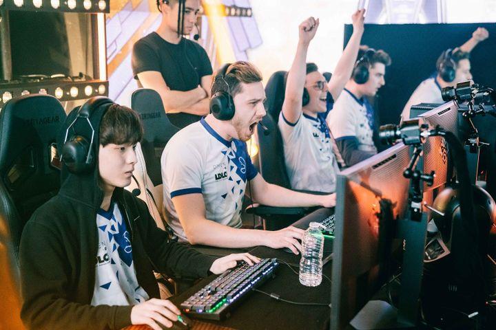 L'équipe LDLC OL du jeu League of Legends en pleine partie. (LDLC OL)