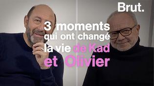VIDEO. Les moments qui ont changé la vie de Kad et Olivier (BRUT)