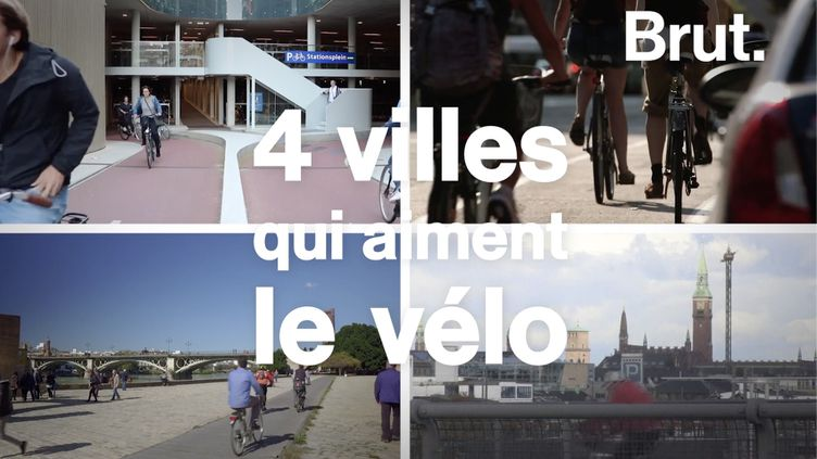 VIDEO. De Copenhague à Séville… Quatre villes qui aiment le vélo (BRUT)
