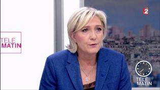 Marine Le Pen, invitée des 4 Vérités sur France 2 vendredi 7 avril. (FRANCE 2)