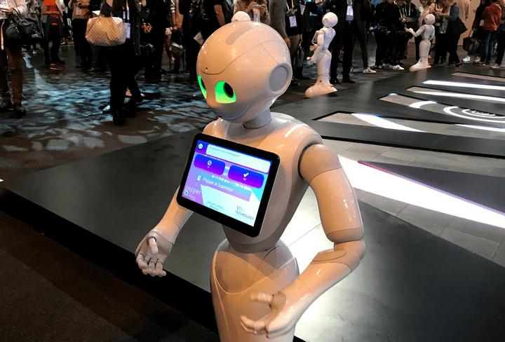 Un robot destiné à aider les personnes dans la rue ou à leur domicile (JEROME COLLIN/RADIOFRANCE)