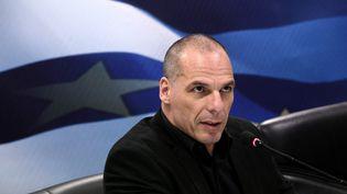 Yanis Varoufakis, ancien ministre des Finances grec, à Athènes, le 6 juillet 2015. (NICK PALEOLOGOS / SOOC / AFP)
